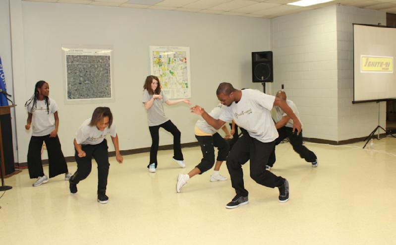 Dance group Frontrunnerz entertained.